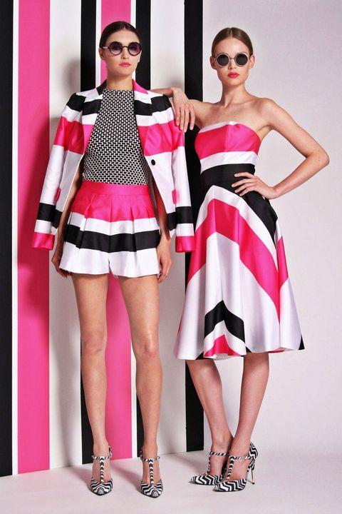 Clothing, Eyewear, Footwear, Leg, Shoulder, Red, Sunglasses, Joint, Outerwear, Fashion accessory,