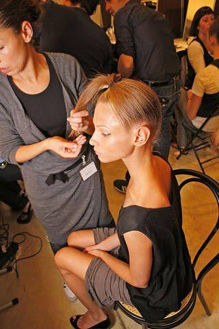 Gianfranco FerrÃ{{{copy}}} Spring 2009 Ready-to-wear Backstage - 001