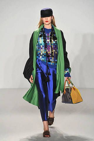Human body, Style, Fashion accessory, Headgear, Costume design, Bag, Electric blue, Fashion, Street fashion, Cobalt blue,