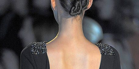 Shoulder, Fashion, Neck, Black, Back, Fashion model, Day dress, Fashion design, Model, One-piece garment,