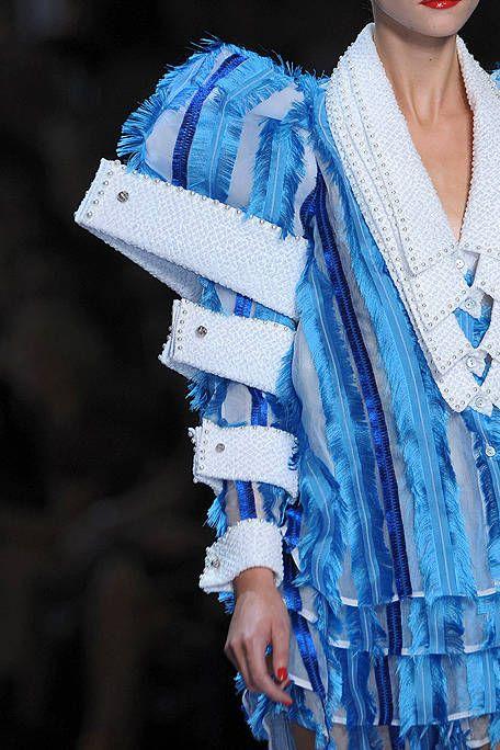 Electric blue, Fashion, Nail, Street fashion, Wrap, Fashion design, Costume, Bracelet, Shawl, Fashion model,