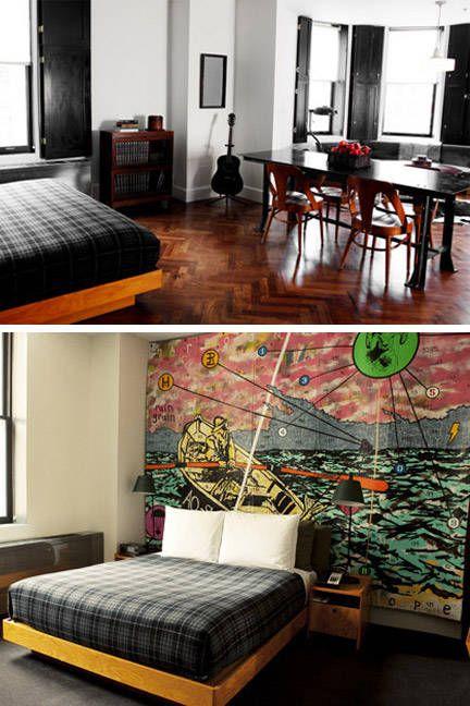 Room, Interior design, Bed, Floor, Furniture, Bedding, Wall, Textile, Flooring, Bedroom,