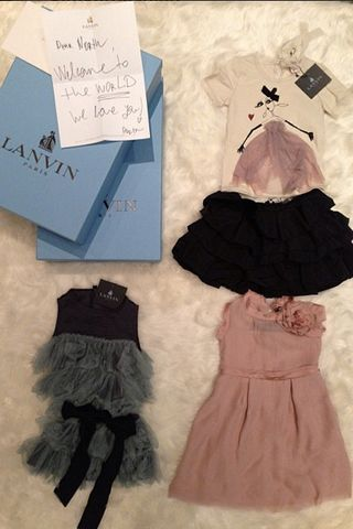 Céline, Givenchy Create Custom Pieces for Kim Kardashian and Kanye's Baby