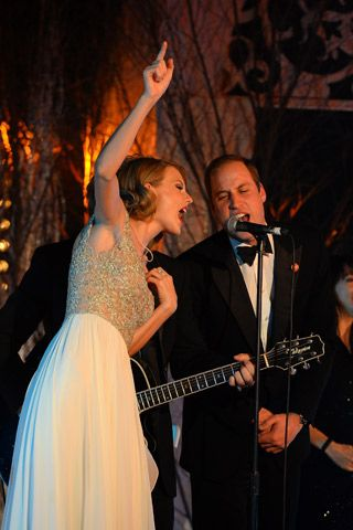 "Taylor Swift, Jon Bon Jovi, and Prince William Sang ""Livin' On A Prayer"" Together Last Night. Really."