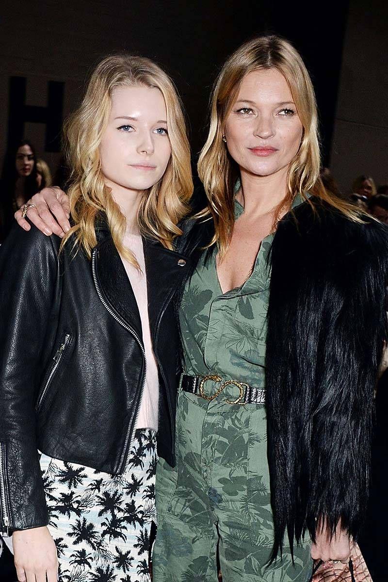 Lottie Moss And Kate Moss Lottie Moss Follows in...