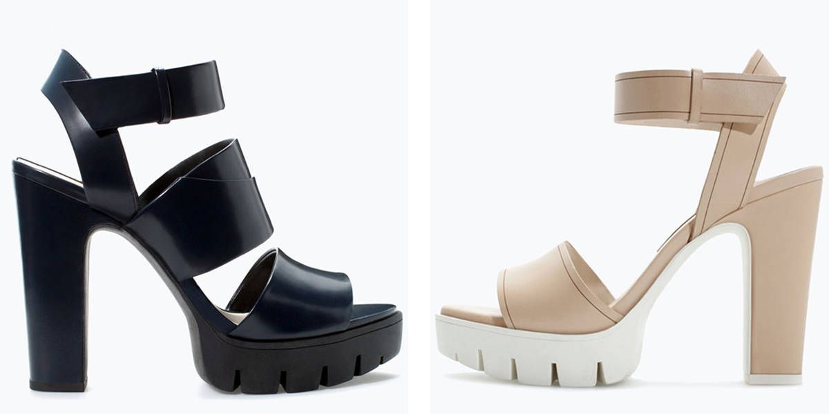 685bdc9b55b6  ELLEloves  Zara Leather Track Heel Sandals - ELLE Editor Picks