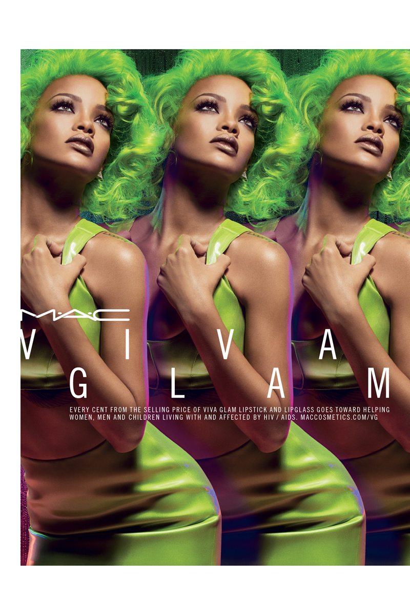 Rihanna Goes Green for Latest M·A·C Campaign