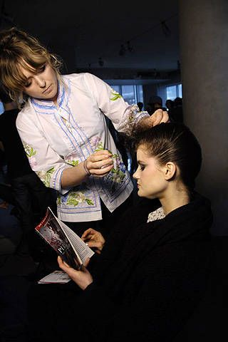 Kai Kuhne Fall 2008 Ready-to-wear Backstage - 001