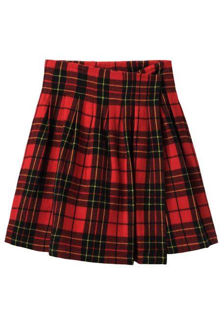 limi feu tartan waist tuck rrapped skirt