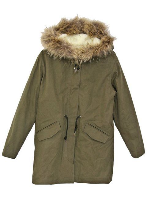 Brown, Sleeve, Jacket, Textile, Coat, Outerwear, Collar, Natural material, Khaki, Fur clothing,