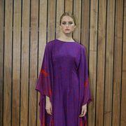 Sleeve, Purple, Textile, Violet, Dress, One-piece garment, Magenta, Lavender, Electric blue, Street fashion,