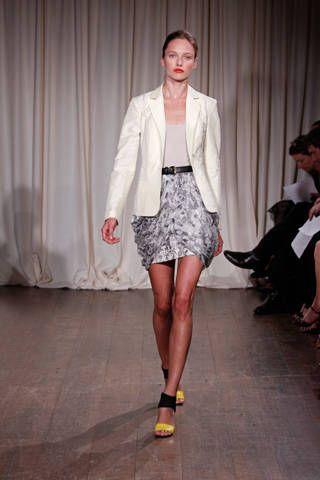 Clothing, Footwear, Leg, Fashion show, Shoulder, Textile, Joint, Outerwear, Runway, Hat,