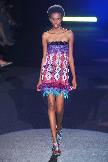 Clothing, Fashion show, Shoulder, Dress, Fashion model, Style, One-piece garment, Runway, Waist, Electric blue,