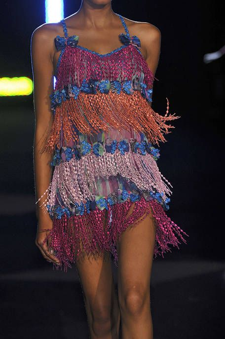 Shoulder, Joint, Dress, Human leg, One-piece garment, Electric blue, Fashion show, Thigh, Fashion, Magenta,