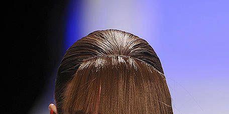 Lip, Hairstyle, Shoulder, Style, Bangs, Eyelash, Neck, Fashion model, Model, Bowl cut,