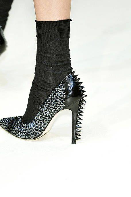 Style, Fashion, Black, Sock, High heels, Close-up, Foot, Basic pump, Fashion design, Ankle,