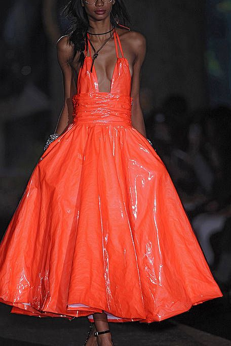Clothing, Dress, Textile, Red, Orange, Style, Formal wear, Gown, One-piece garment, Fashion,