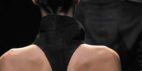 Shoulder, Joint, Back, Neck, Black, Fashion model, Day dress, Active tank, Flesh,