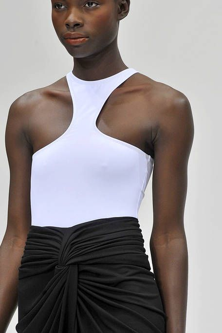 Skin, Shoulder, Joint, White, Style, Waist, Fashion model, Chest, Muscle, Fashion,