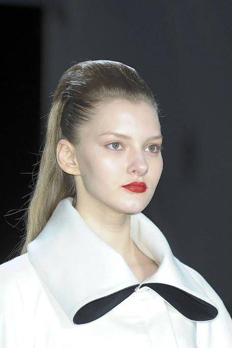 Hair, Ear, Lip, Hairstyle, Forehead, Eyebrow, Collar, Style, Eyelash, Hair accessory,