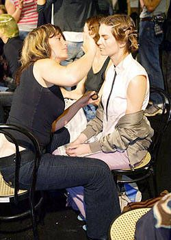 Alessandro Dell'Acqua Spring 2004 Ready-to-Wear Backstage 0001