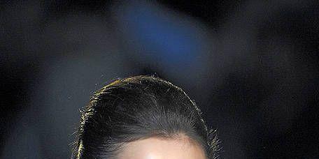 Ear, Lip, Hairstyle, Eyebrow, Dress, Eyelash, Style, Strapless dress, Beauty, Fashion,