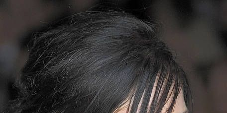 Hair, Lip, Hairstyle, Chin, Eyebrow, Black hair, Style, Eyelash, Organ, Beauty,
