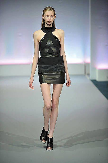 Clothing, Leg, Fashion show, Human leg, Shoulder, Runway, Joint, Dress, Fashion model, Style,