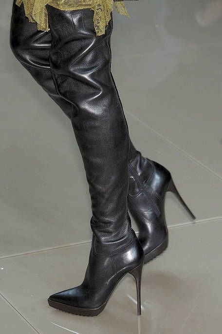 Textile, Boot, Leather, Fashion, Black, Latex, Riding boot, Knee-high boot, Liver, Silver,