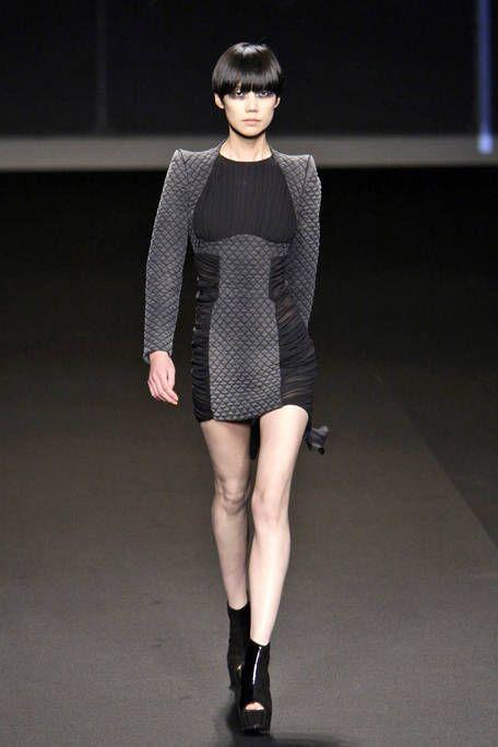 Clothing, Sleeve, Human leg, Shoulder, Joint, Dress, Fashion show, Style, Knee, Fashion model,