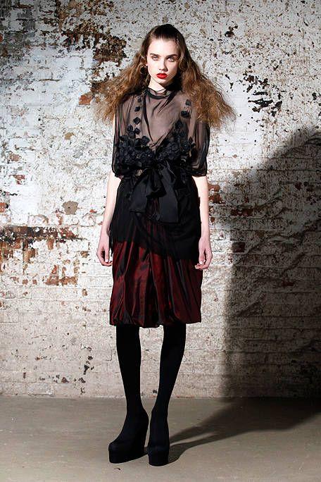 Style, Fashion, Black, Stocking, Knee, Fashion model, Tights, Goth subculture, Long hair, Gothic fashion,