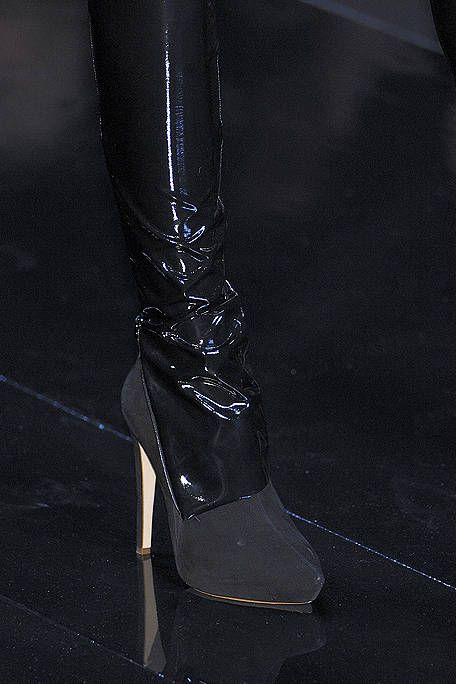 Black, High heels, Leather, Sandal, Latex, Costume accessory, Boot, Knee-high boot, Silver, Latex clothing,