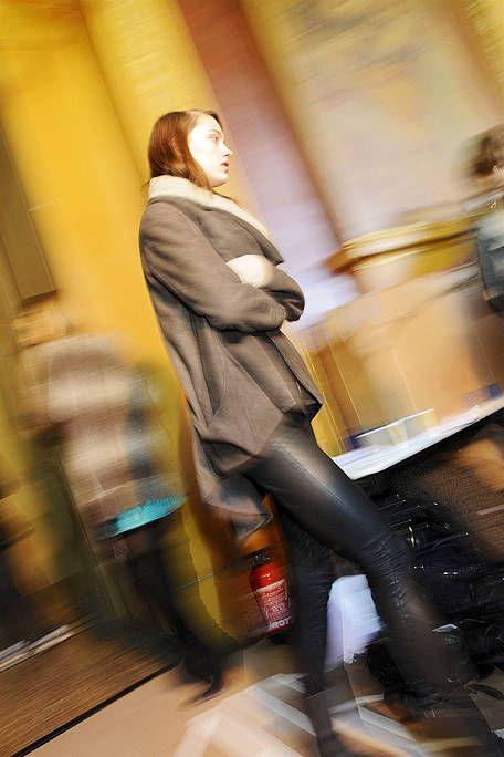 Street fashion, Overcoat, High heels,
