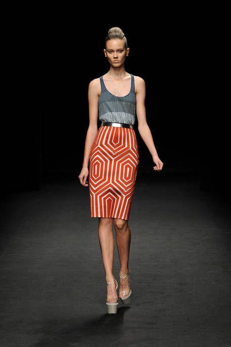 Clothing, Brown, Shoulder, Joint, Fashion show, Human leg, Style, Waist, Fashion model, Knee,