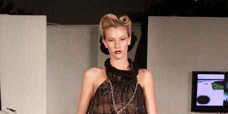Clothing, Face, Human body, Fashion show, Runway, Fashion model, Style, Dress, Fashion, Model,