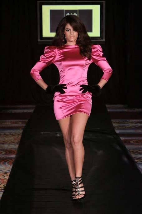 Clothing, Mouth, Shoulder, Human leg, Red, Magenta, Pink, Style, Dress, Fashion model,