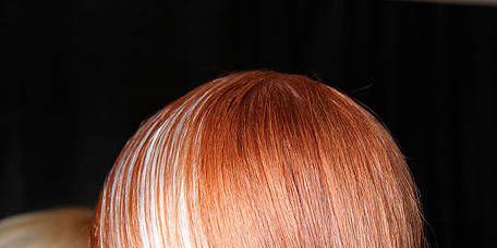 Head, Hairstyle, Style, Earrings, Hair coloring, Red hair, Brown hair, Liver, Blond, Long hair,