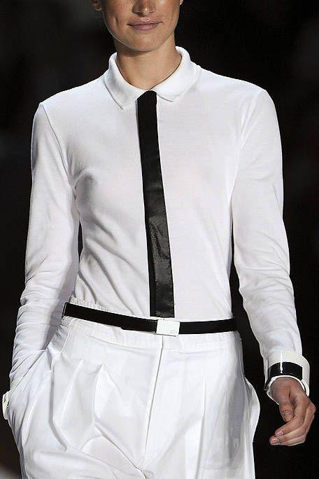 Sleeve, Collar, Dress shirt, White, Style, Uniform, Pocket, Fashion, Fashion model, Cuff,