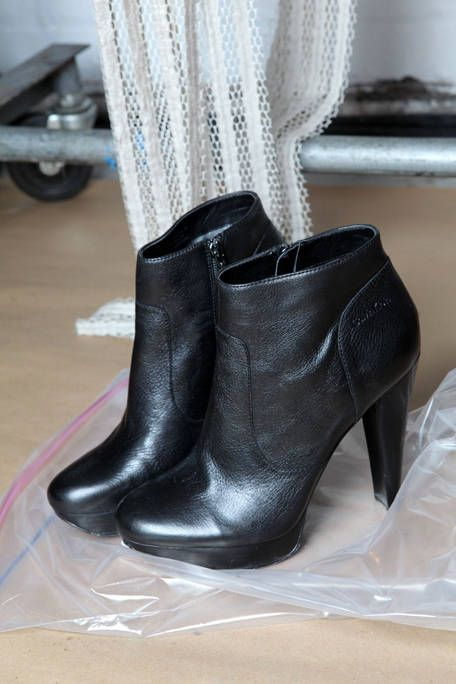 Boot, Fashion, Black, Leather, Synthetic rubber, Material property, Fashion design, Silver, High heels,
