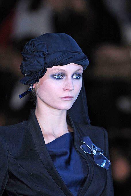 Nose, Lip, Mouth, Chin, Eyebrow, Collar, Headgear, Electric blue, Black hair, Fashion,