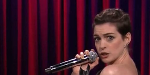 Anne Hathaway and Jimmy Fallon Turned Rap Songs Into Showtunes