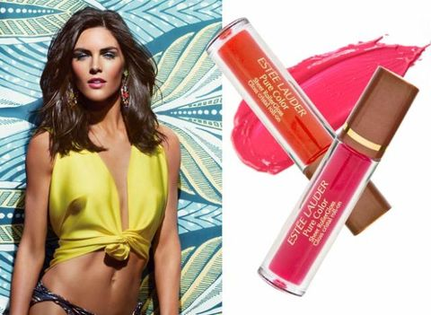 estee lauder, bronze goddess, bronzer, lip gloss