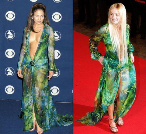 Green Versace dress of Jennifer Lopez