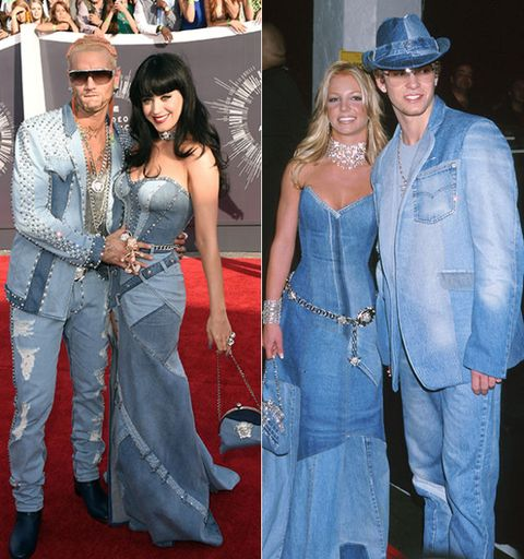 Katy Perry Channeled Britney Spears Katy Perry Jean Dress Vma Awards