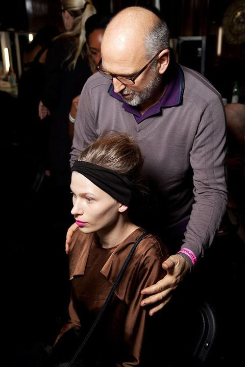 Clements ribeiro FALL 2012 RTW backstage 003