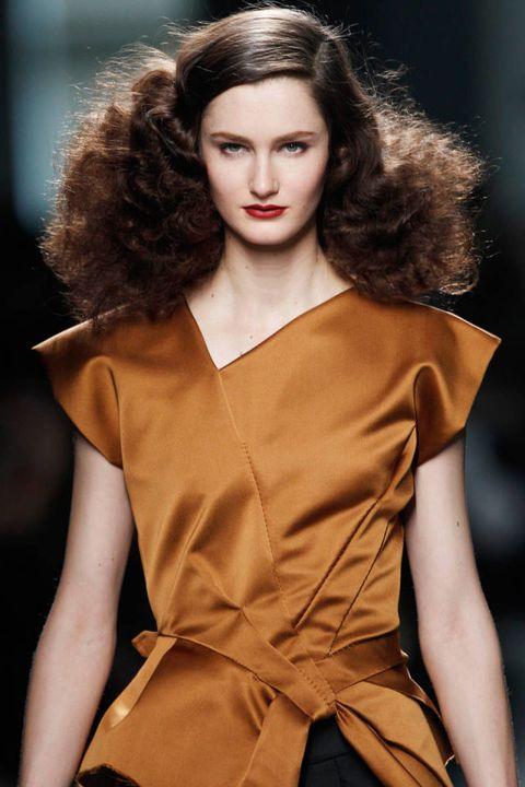 Hair, Lip, Hairstyle, Fashion model, Eyelash, Style, Jewellery, Dress, Fashion, Model,