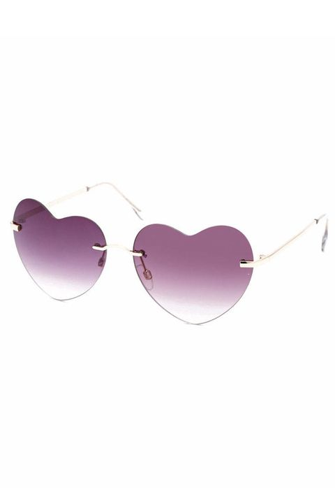 Eyewear, Brown, Purple, Magenta, Pink, Violet, Lavender, Eye glass accessory, Maroon, Heart,