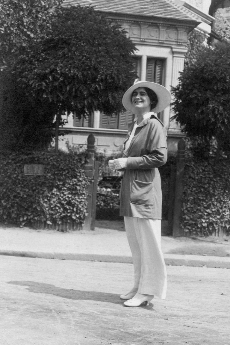 coco chanel in deauville 1913