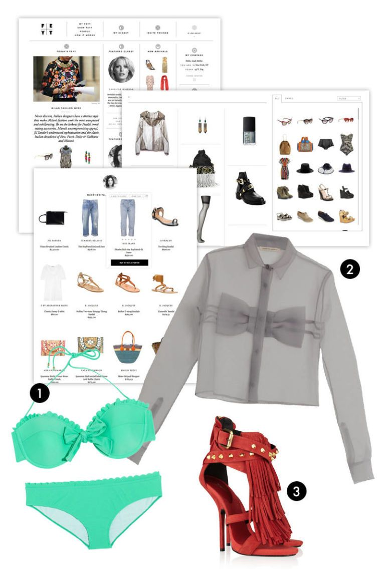 Miu Miu Scalloped Bow Bikini Christopher Kane Bow-Front Chiffon Blouse Giuseppe Zanotti Fringed Suede Sandals
