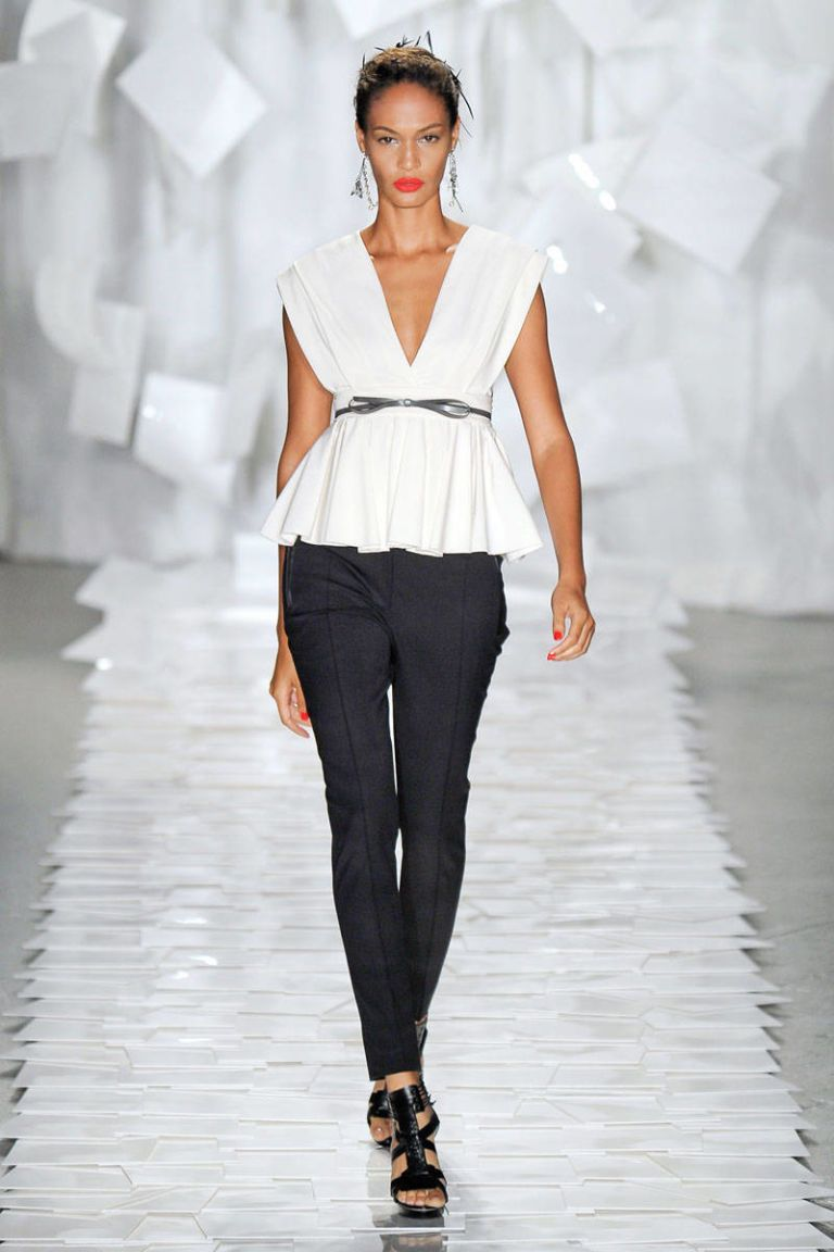 jason wu spring 2012 runway white peplum top